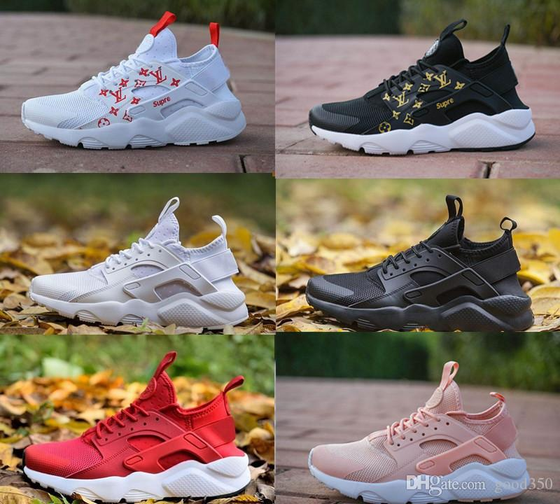 fb6d798bf3ad4 2018 Newest Air Huarache 4 IV Ultra Reflect Running Shoes For Mens Womens  Leather Mens Air Huaraches Sports Trainers Running Sneakers 36 46 Best Shoes  For ...