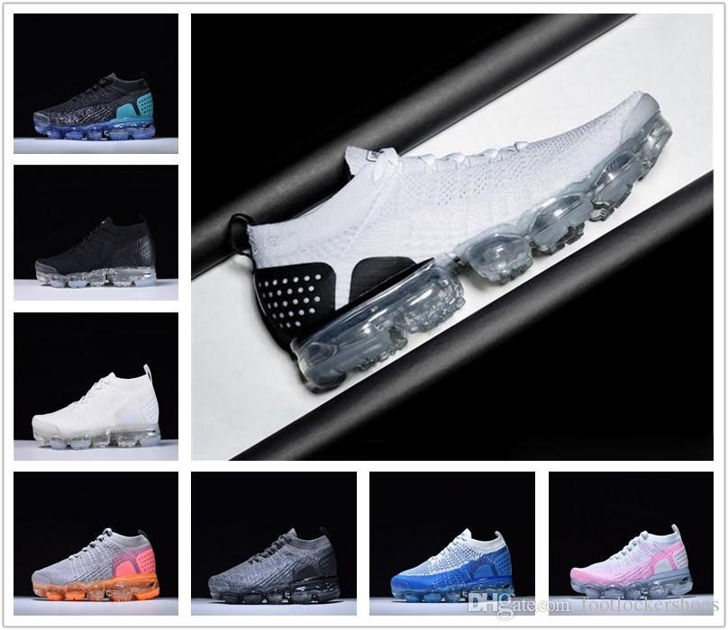 3ea8f3fb28e1de Wholesale Cheap Vapormaxes Plyknit Running Shoes Men Green Trainers Tennis  VaporMaxes 2018 Shoe Man Homme Sport Authentic Size Eur36-46 Vapormaxes ...