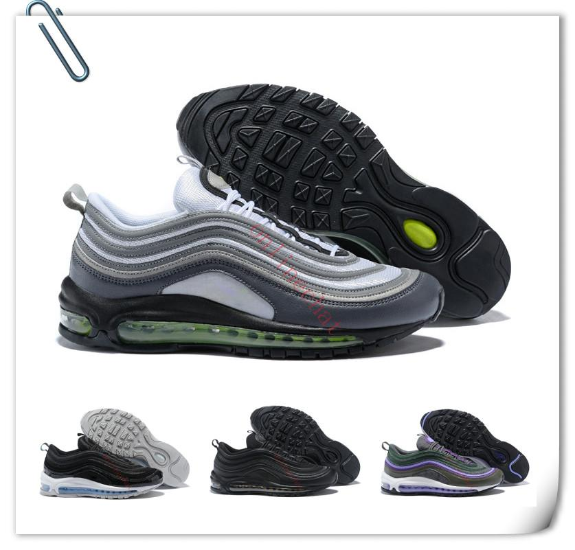 Airs Cushion 97 Mens Low Running Shoes Cushion Men Women Size OG Silver Gold Sneakers 97S Sport Athletic Sports Trainers Size36-46 buy cheap amazing price XgcPX2Rfk