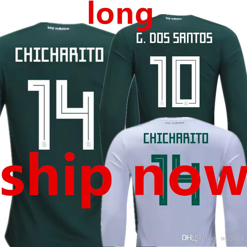 454538d33 Mexico Long Sleeve Soccer Jersey Full World Cup 2018 Camisas De ...