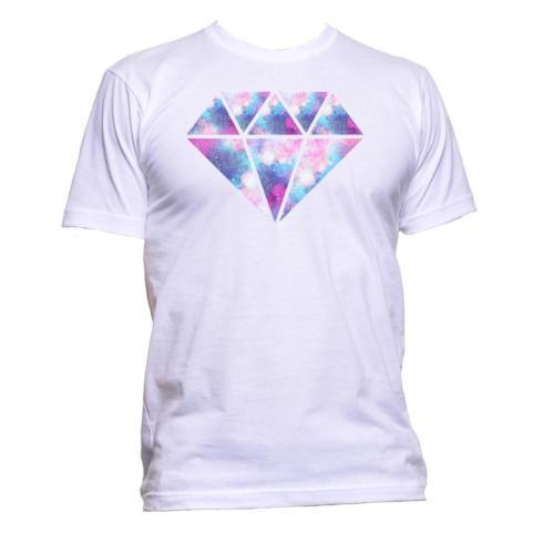 f9355b59df6aa Galaxy Diamond Space Modern Dripping Crystal T-Shirt Mens Womens ...