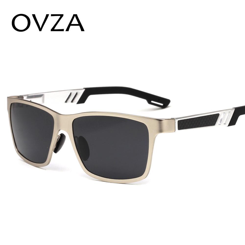 75ce76b631 OVZA Fashion Sunglasses Polarized Man Brand Male Sunglasses Aluminum ...