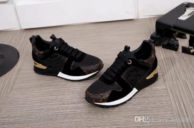 39a3d2e6459124 Hochwertige Designer Freizeitschuhe Mode Laufschuhe für Männer Luxus  Turnschuhe Marken Schuhe für Männer Frauen aus echtem Leder Schuh