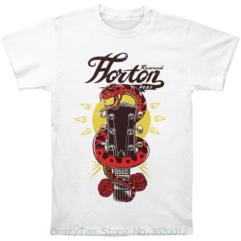 Blanca Guitarra Últimos Horton 2018 Hombres Moda Reverendo Heat Camiseta Serpiente nm08wN