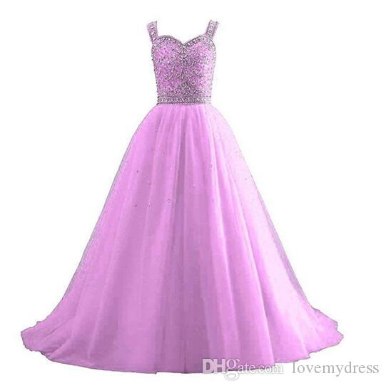 Kırmızı Prenses Kızlar Pageant Elbise 2021 Ucretsiz Kayışlar Lace Up Geri Kristal Boncuklu Tül Boncuklu Ucuz Çiçek Kız İlk Communion Elbiseler