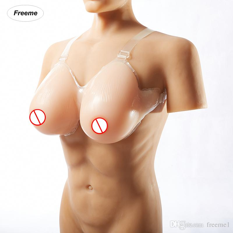 Freeme 800G Waterdrop Shape Fake Boobs For Crossdresser Siliconen Borsten Crossdressing  Breast Form C Cup Artificial Breasts Pair Red Rose Breast Forms ... ce3efb1e2