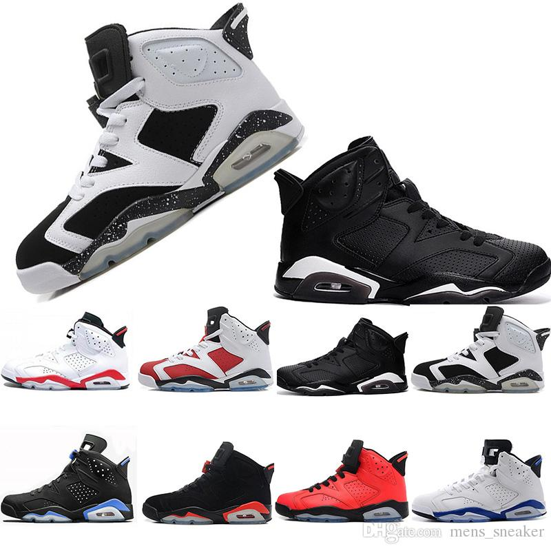 73308448561af8 2018 Cheap 6 6s Mens Basketball Shoes Man Unc Black Cat Infrared Sports  Blue Maroon Olympic Alternate Hare Oreo Angry Bull Sports Sneakers  Basketball Games ...