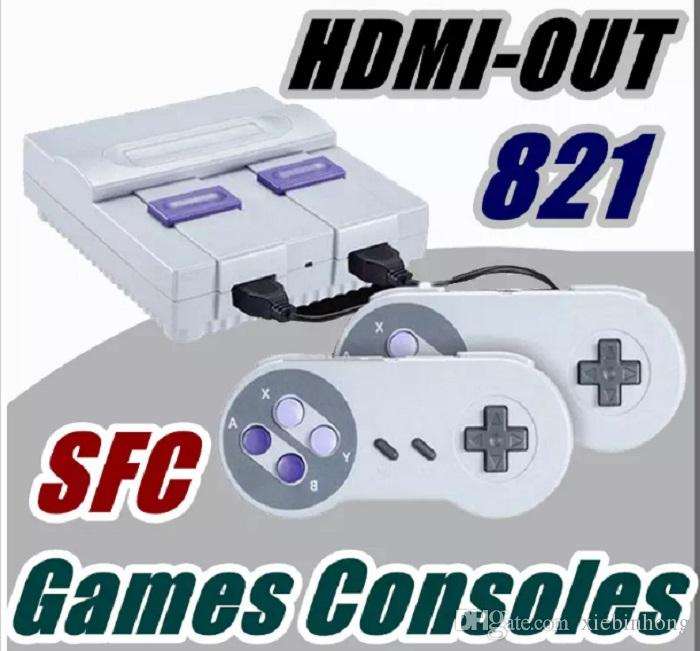 Single-piece HDMI Out TV Game Console can store 821 games Video Handheld for SNES games consoles toys
