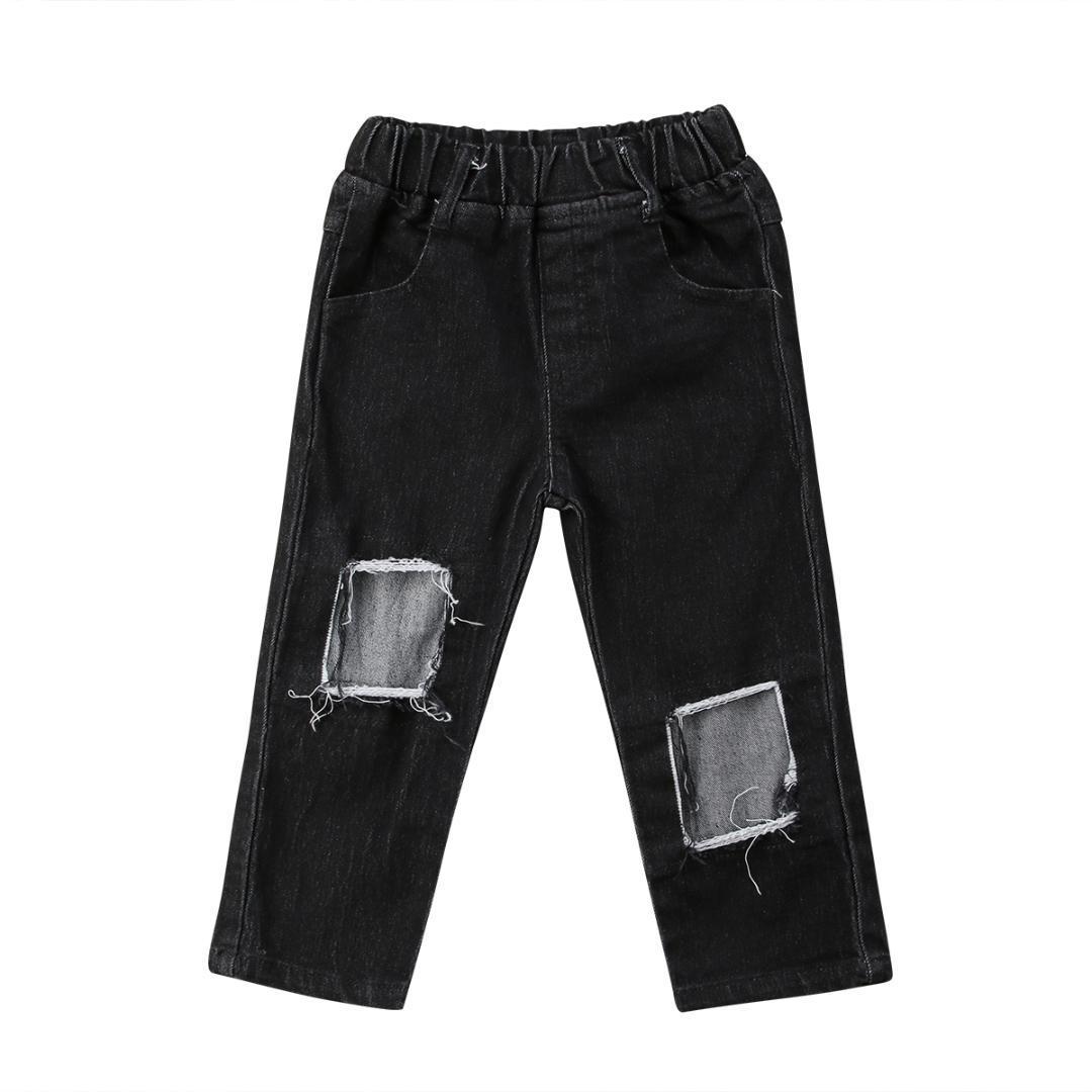 caf3b41db5 Compre Niños Bebés Y Niños Pequeños Ropa Pantalones Pantalones Pantalones  Vaqueros De Mezclilla Para Niños Ropa Casual Chica 2 7T A  38.54 Del  Rainbowny ...