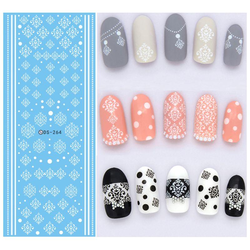 Winter Style White Snowflake Nails Art Sticker Water Transfer Nail