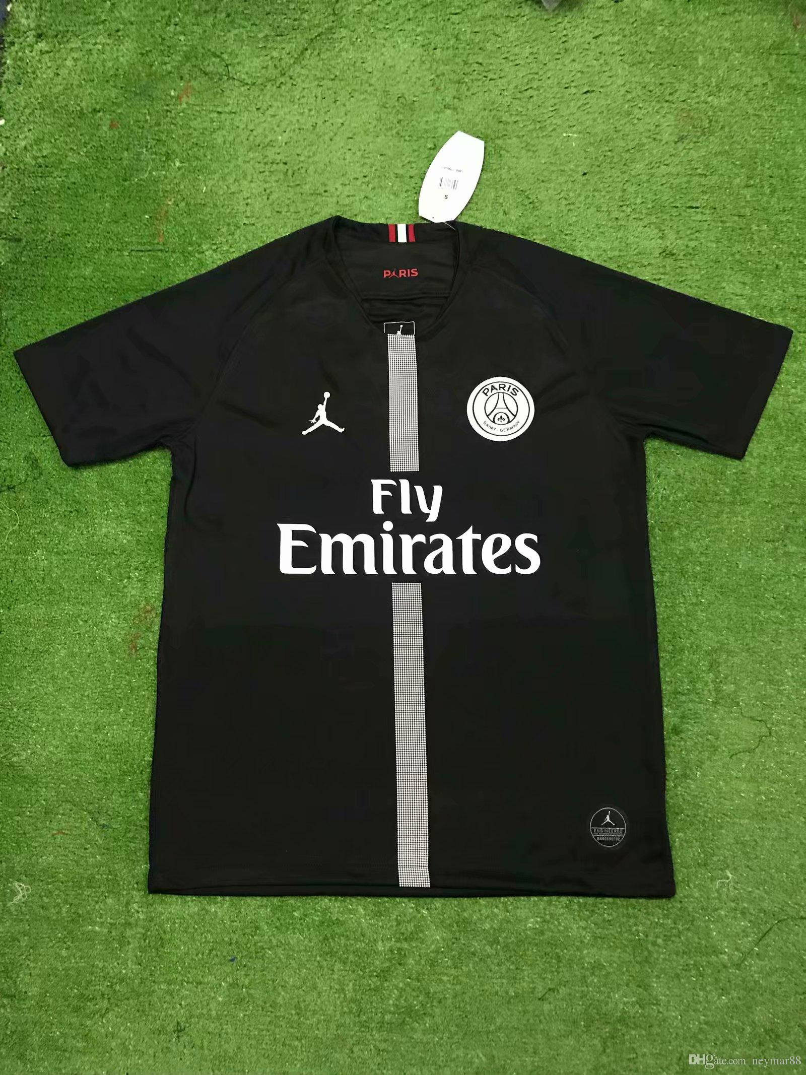 promo code 1fe5b 1ae5f 2018 2019 new psg jerseys 18 19 Paris Jordam tracksuit home black away  white soccer jersey CAVANI football shirts MBAPPE maillot de foot
