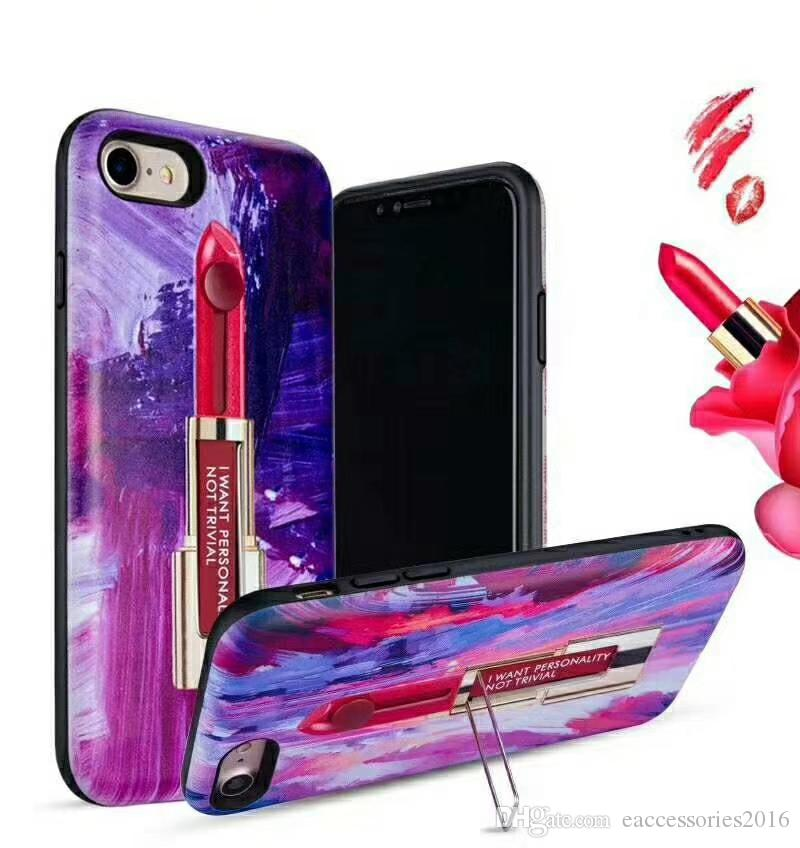 For Iphone 10 Ten X 8 7 6 5 Samsung S9 S9plus, S8 S8 Plus S7 Edge Boostmobile Note 8 Lipstick Pattern Cover Case 3D Printed Oppbag Pakcage