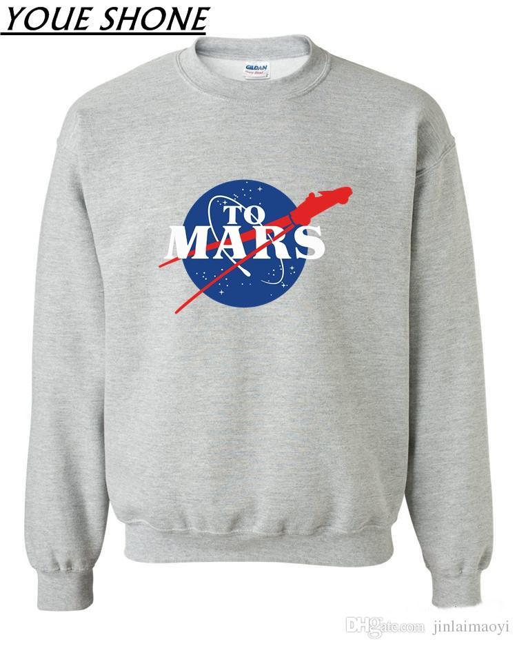 2019 Plus Size Men S SpaceX Rocket Sweatshirts Elon Musk Space His Journey  To Mars Starman Car Jersey Coat Tesla Roadster 9 StarmanX Pullover From ... 5fdda2cf77b4