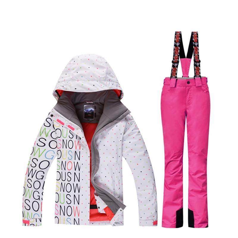 2019 High Quality Ladies Ski Suit Suit Snowboard 10K Waterproof ... 45fbc3c30