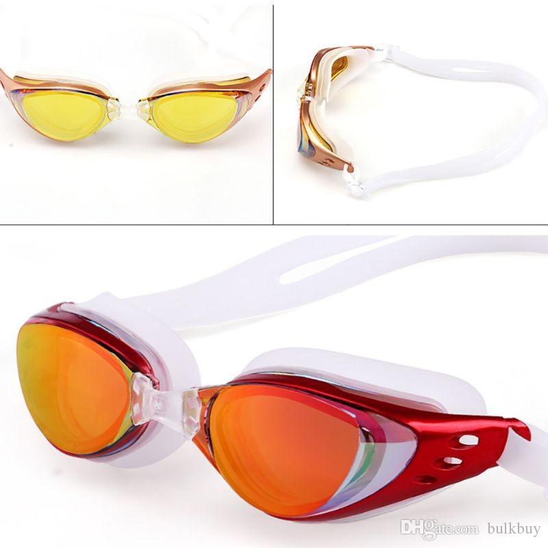Nuevo Ajustable Impermeable Anti Vapor Protección UV Adultos Lentes de color profesionales Buceo Gafas de natación Gafas Gafas de natación