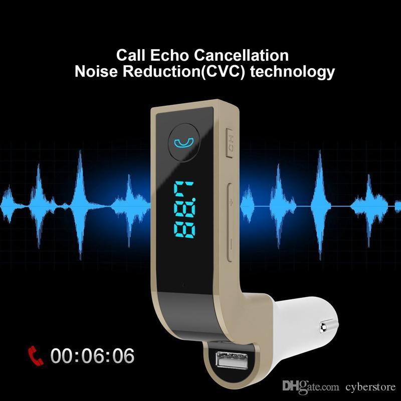 Оригинальные FM-передатчики G7 Многофункциональные 4-в-1 АВТОМОБИЛЬНЫЕ беспроводные адаптеры Bluetooth с USB MP3-плеерами Флэш-накопители TF Радио ЖК-дисплей Микрофон