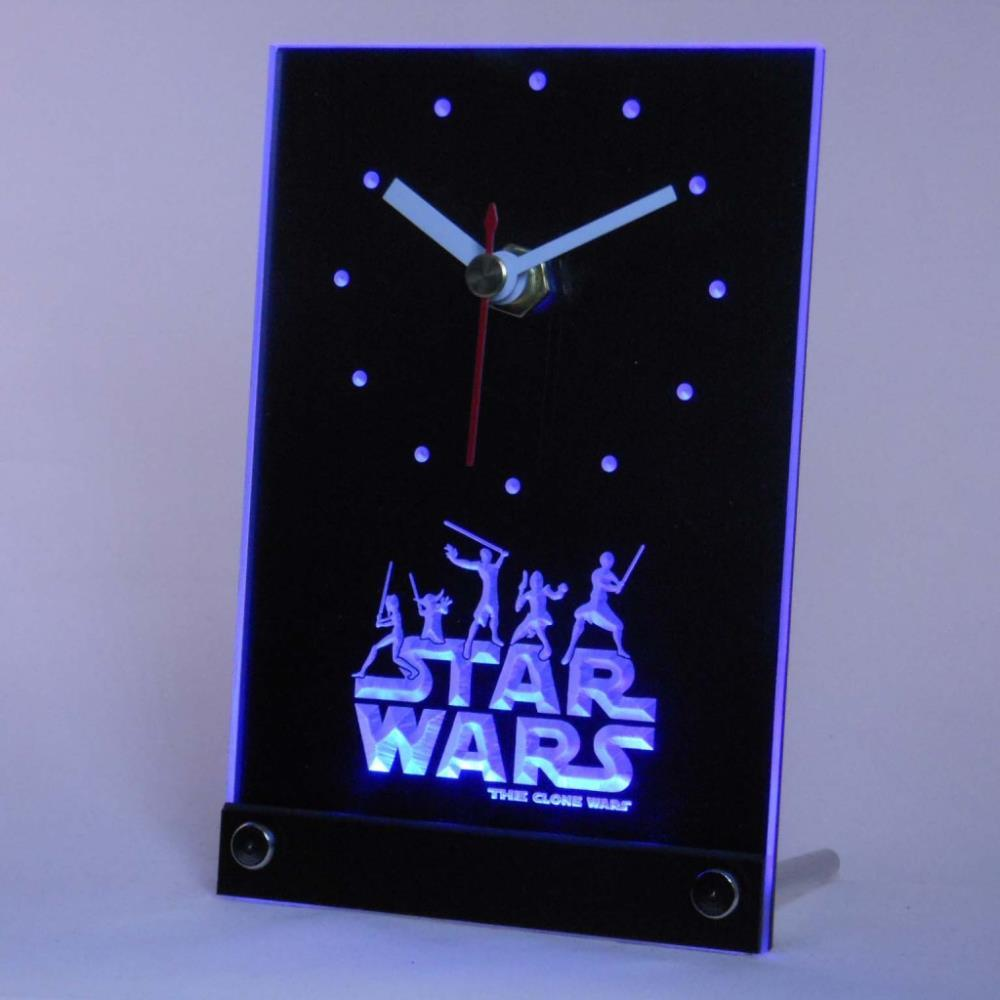 Superieur Tnc0218 The Clone Wars Jedi Table Desk 3d Led Clock Square Kitchen Wall  Clocks Stainless Steel Kitchen Clock From Isaaco, $24.62  Dhgate.Com