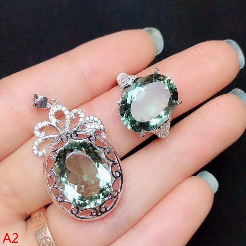 dfce6ded2196 Compre KJJEAXCMY Joyas Boutique 925 Plata Pura Incrustaciones De Corindón  Rojo Amatista Cristal Verde Anillo De Jade Blanco