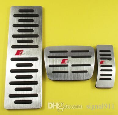 High quality aluminium alloy car rest pedal+accelerator pedal+brake pedal for A1,A3,A4,A6,A7,A8,Q3,Q5,TT