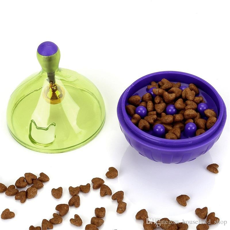 Pet Leaking Food Toys Tumbler Puzzle Automatic Plastic Cat Ball Feeders Cat With Small Bell High Quality