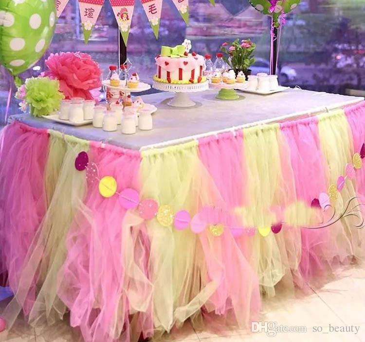 الديكور تول لفة توتو كرافت 100 ساحات النسيج DIY حفل زفاف العرسان هالوين للأطفال تنورة ديكور عرض 6 بوصة