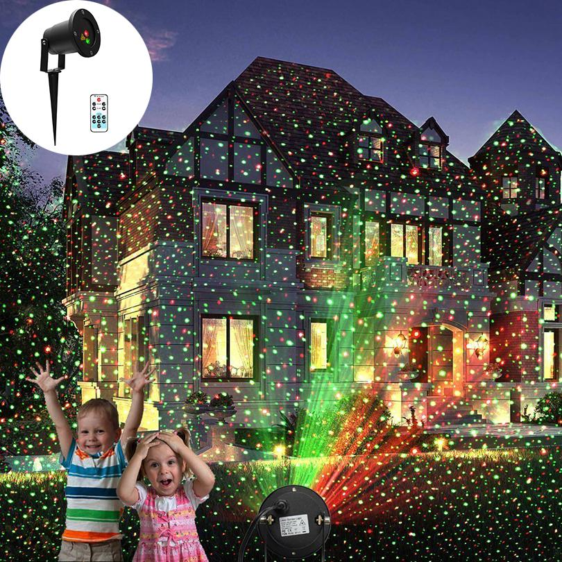 landscape laser light red and green christmas light sparkling starry sky laser projector lamp with remote control for halloween professional stage lighting