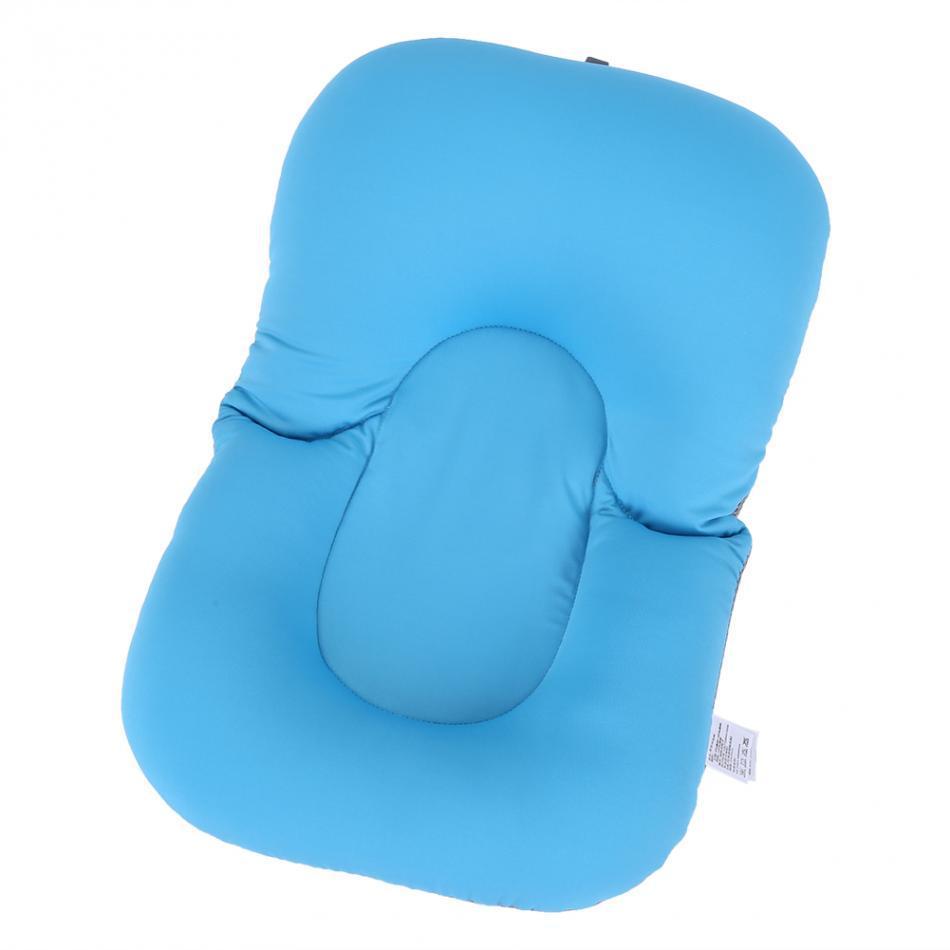 Newborn Baby Bathtub Pillow Toddler Infant Soft Seat Pad Tub Bath Floating Air Cushion Pillow Non Slipt Bathroom Accessories