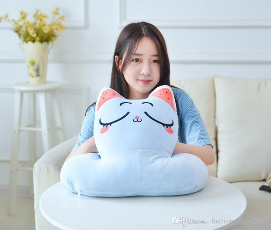 Lovely Animal Creative Office Flight Travel Portable Soft Nap Pillow Fashion Cute Mini Comfortable Desk Rest Arm Glove Pillow