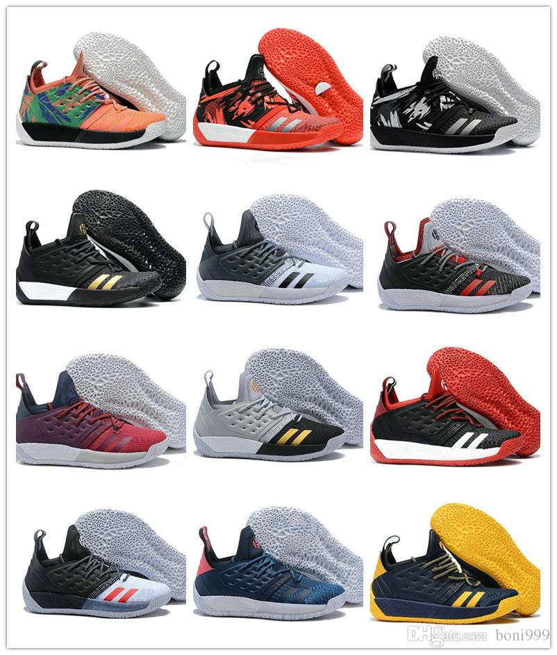 457661344c6 Großhandel 2018 Heißer Verkauf James Harden Vol. 2 Basketball Schuhe  Schwarz Grau Rot Herren Harden Vol.2 Outdoor Sportschuhe Turnschuhe Größe  40 46 Von ...