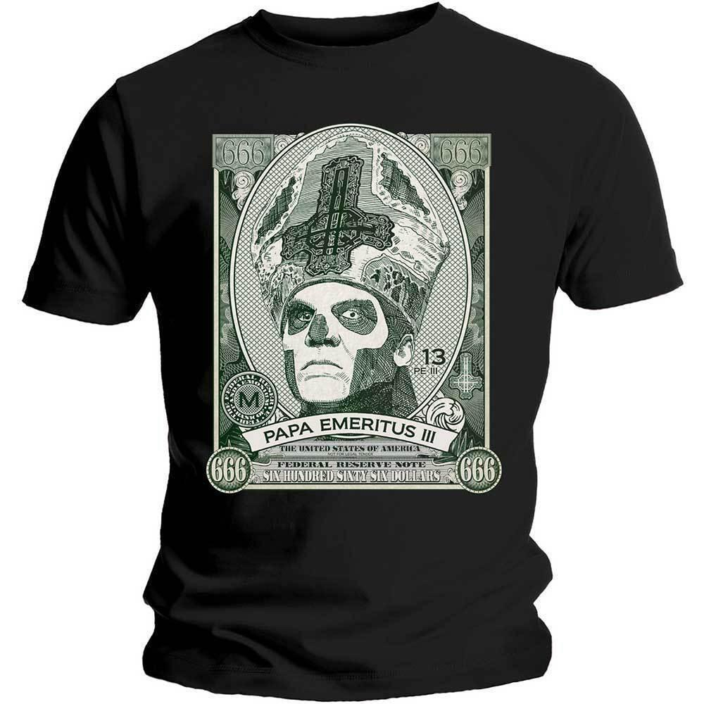 Ghost Papa Cash Shirt S M L XL XXL XXXL Official Metal Rock Band T-Shirt Tshirt