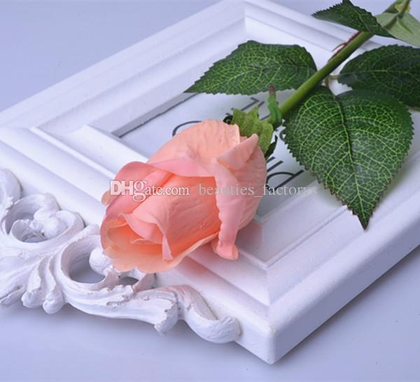 Haute Simulation Rose Artificielle Real Touch Fleur Maison Décor De Jardin Faux Fleurs Décorations De Mariage Multi Couleurs