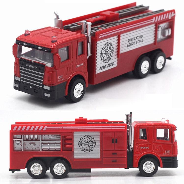 Autopompa antincendio in scala 1/43 Modello in lega pressofusa Pull Back Car Regali giocattolo bambini