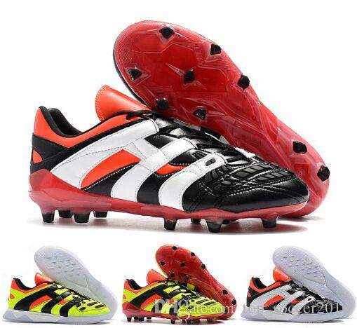 db01b7574593 2019 Original 2018 Predator Accelerator Electricity FG DB Dream Back 98 TR  Becomes 1998 98 Men Soccer Shoes Cleats Football Boots Size 39 45 From ...