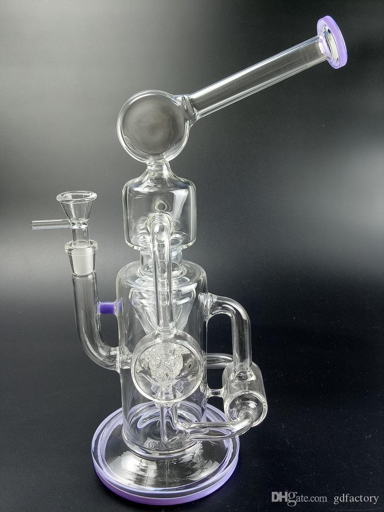 Tubo de agua de vidrio Bong Dab Rig Fab huevo Heady Perc Plataformas petroleras Cera de cuarzo banger tazón bongs gruesos vasos de precipitados bubbler Hookah 365