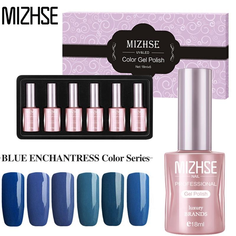 MIZHSE 18ML Gel Lacquer Polish Fast Dry Nail Polish Matte Top Coat LED Nail  Lamp Gel Soak Off Art Decorations Manicure