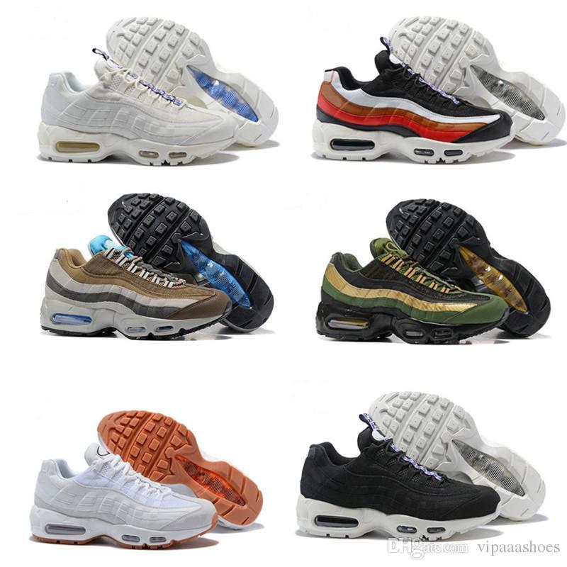 Compre Nike Air Max 95 AirMax Top Qualidade Tênis De Corrida Dos Homens  Almofada OG Sneakers Botas Autênticos 95 S New Walking Desconto Calçados  Esportivos ... 5b1f702056243
