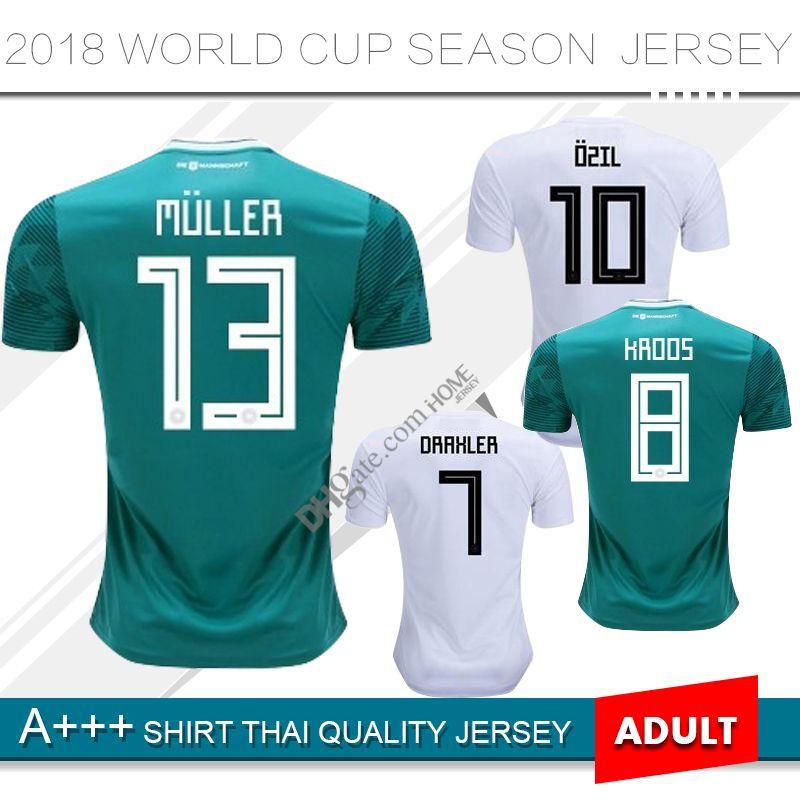 46e8f250 2019 2018 Germany Home Jersey MULLER DRAXLER OZIL KROOS Soccer Jerseys 2018  2019 AWAY GOTZE HUMMELS WERNER HECTOR Football Shirts Kit From Homejersey,  ...