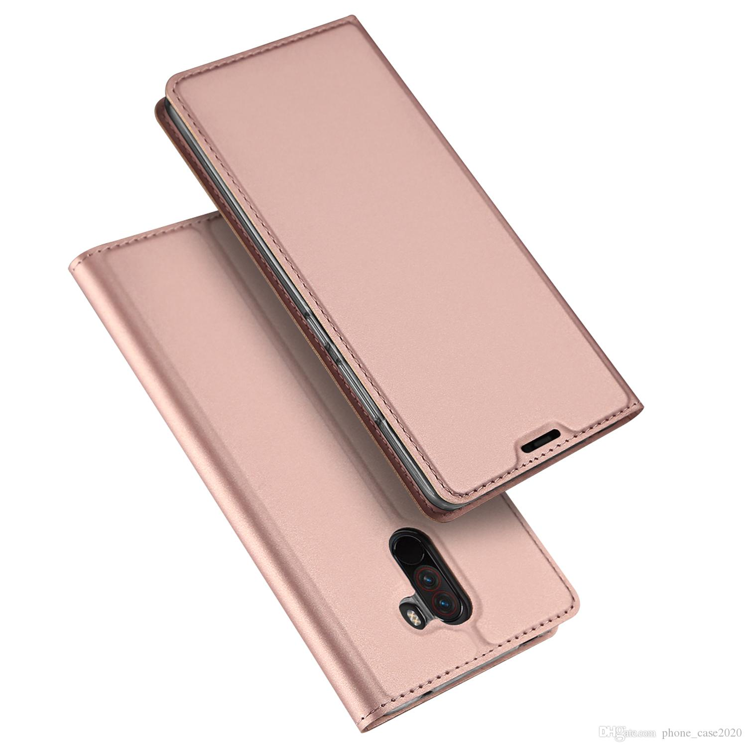 Dux Ducis Skin Pro Slim Pu Leather Smooth Card Slot Flip Stand Case For Xiaomi Pocophone F1 Silicone Phone Cases Cell Phone Cover From Phone case2020