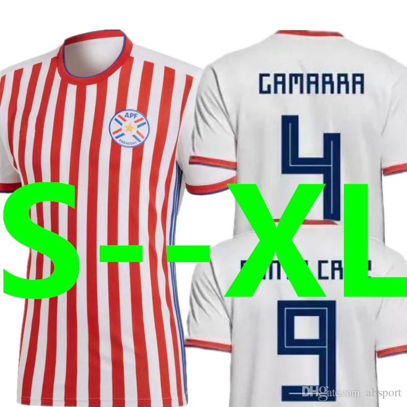 Soccer Jersey Paraguay World Cup 2018 2019 GAMARRA SANTA CRUZ ... 171d330e43a