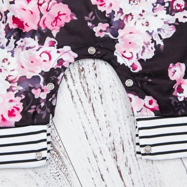 baby girl modello retrò fiore romper chic infanti panno floreale manica lunga tutina rotonda colletto ins hot KA617