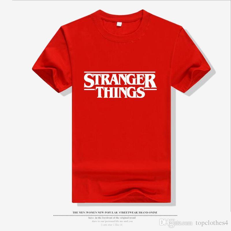 8bf405bdfa4 2019 New Fashion Stranger Things T Shirt Men O Neck Funny T Shirt ...