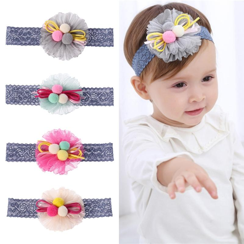 Baby Hair Band Floral Lace Headband Kids Girl Accessories Cute Children  Ornament Fairy Pretty Babies Headbands Hair Accessories Hair Accessories  Online From ... e4e296e474e