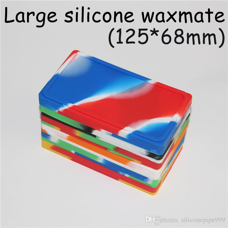 large Waxmate Containers Silicone Rubber Silicon Storage Square Shape Wax Jars Dab Tool Dabber Oil Holder for Vaporizer Dry Herb DHL