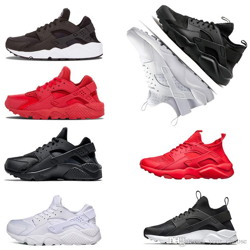 4fa721a96d343 2019 2018 New Huarache Ultra Run Shoes Sole Triple White Black Men Women  Running Shoes Huraches Red Grey Huaraches Sport Shoe Men Women From  Your choose