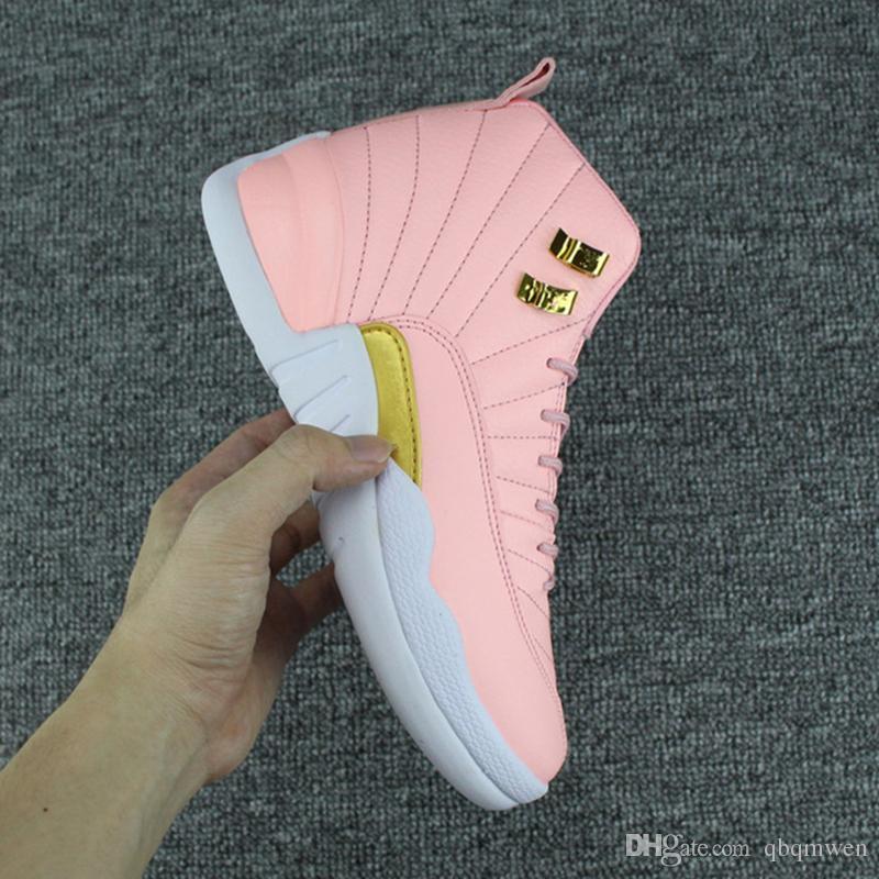 Basketball Shoes XII GS Pink Lemonade Basketball Shoes Womens 12s Pink  Lemonade XII Sneakers Size Us 5 8 Shoes Jordans Sneakers On Sale From  Qbqmwen 1ed16d2eb