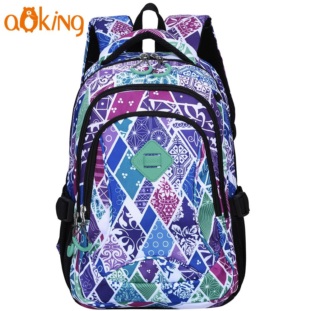 f1fe8bf96700 Aoking Lightweight Flower Printing Backpack For Women Daily Leisure School  Backpack For Girls Waterproof Nylon Causal Leather Backpack Laptop Backpack  From ...
