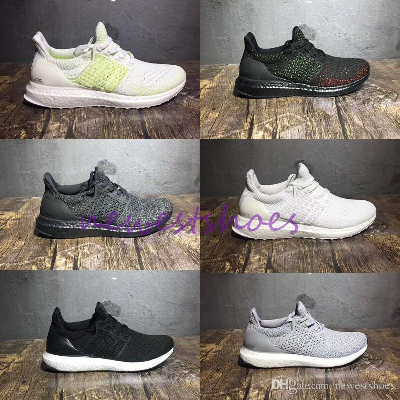 68fbf1952 Ultra Boots UB 4.0 Clima Solar Yellow Cloud White Mens Women Running Shoes Black  Solar Red White Fly Knitting Designer Mesh Sneakers Mens Sneakers Cheap ...