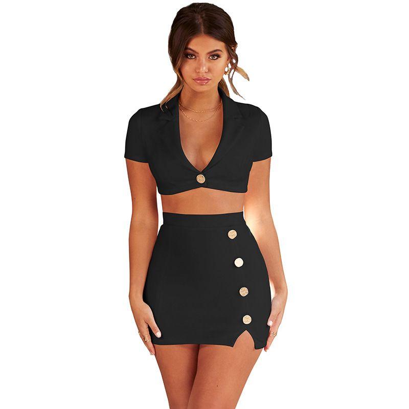 d3758afdf807 Top-Qualität Mode zwei Stücke kurzes Kleid Frauen hohl bodycon Verband  Kleid Club Minikleid