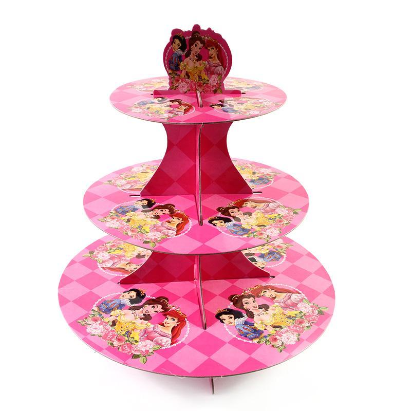 Grosshandel Grosshandel Prinzessin Kuchen Rack 3 Tier Baby Geburtstag