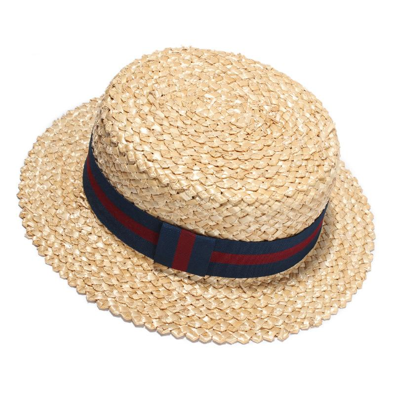 58631383956 New Fashion Summer Beach Sun Hat Woman Straw Hats Hand Made Flat Top Hat For  Girls Circle Fringe Flat Eaves Caps Top Hats Cloche Hat From Value222